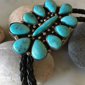 Vintage Willeto Bola with 11 Turquoise stones